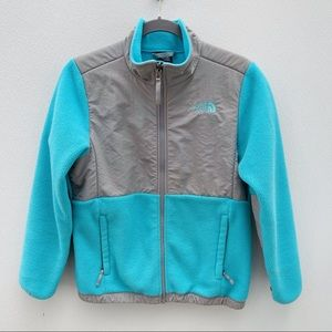 North Face girls Denali jacket large 14 16 blue
